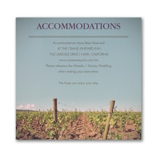 Wine Country - Accommodation Card