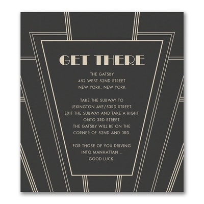 Art Deco - Direction/Map Card