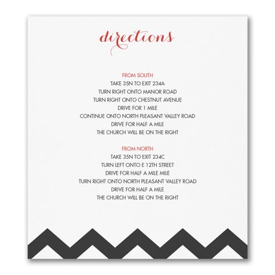 Chevron Stripe - Direction/Map Card