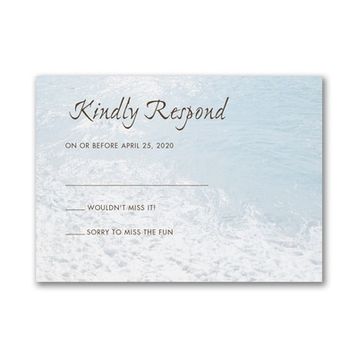 Sandy Toes - Response Card and Envelope