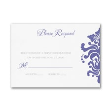 Dainty Damask - Response Card and Envelope