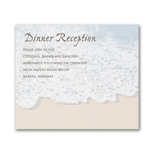 Sandy Toes - Reception Card