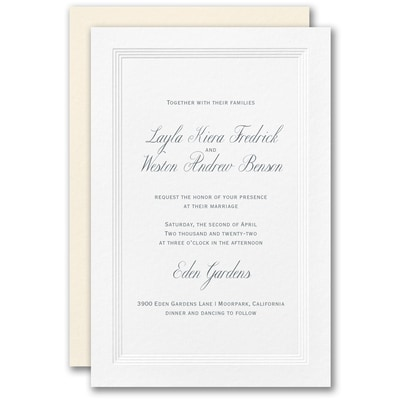 Eloquent Border Invitation