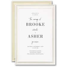 Simple wedding invitations: Timeless Border Invitation