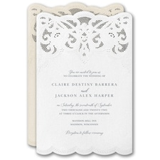 laser cut invitation: Modern Wonder Invitation