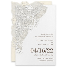 laser cut invitation: Intricate Greenery Invitation