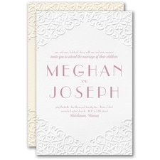 Best Selling Wedding Invitation: Classic Flourish Invitation