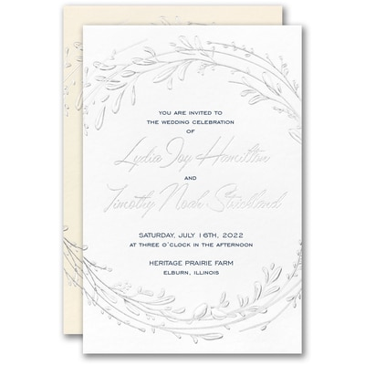 Dashing Greenery Invitation