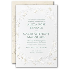 Wrapped in Foliage Invitation  - Best Selling Wedding Invitation