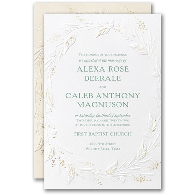 Wrapped in Foliage Invitation