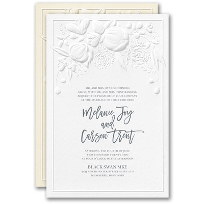 Modern Blooms Invitation