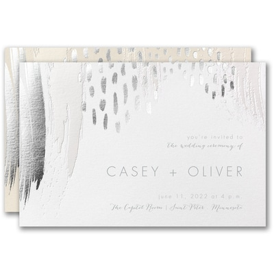 Brushstroke Beauty Invitation