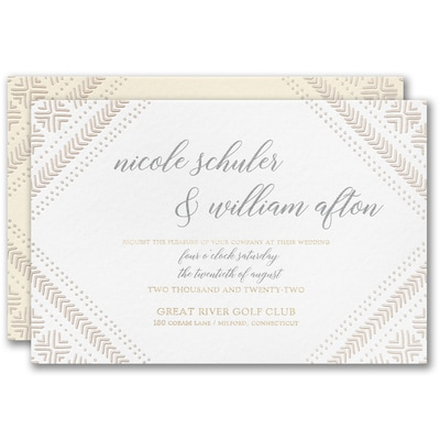 Mud Cloth Pattern Invitation