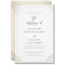 Emerald Embossed Invitation