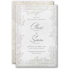 embossed invitation: Lacy Emphasis Invitation