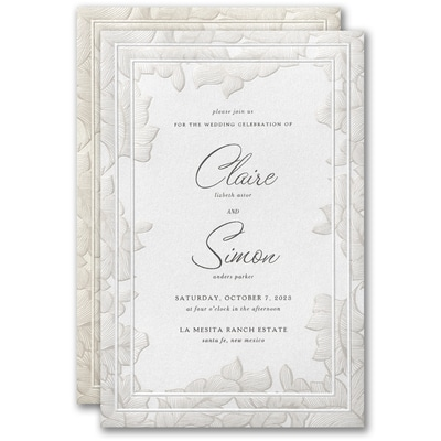 Lacy Emphasis Invitation