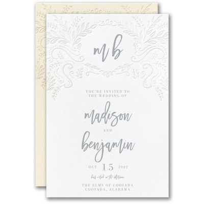 Blooming Elegance Invitation