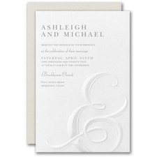 Best Selling Wedding Invitation: Ampersand Impression Invitation