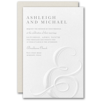 Ampersand Impression Invitation