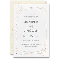 Best Selling Wedding Invitation: Speckled Geo Invitation