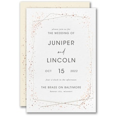 : Speckled Geo Invitation