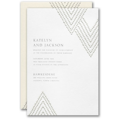 Organic Diamond Invitation