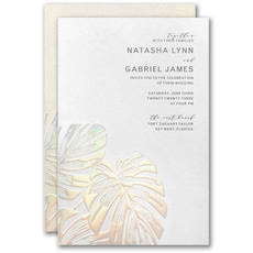 : Tropical Iridescence Invitation