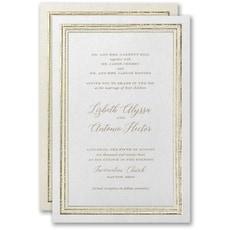 embossed invitation: Textured Radiance Invitation