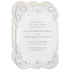 : Filigree Swirls Invitation