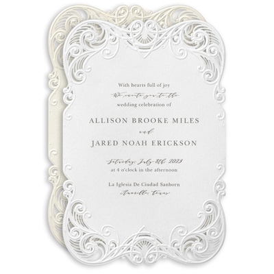 Filigree Swirls Invitation