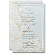 embossed invitation: Sophisticated Flourish Invitation