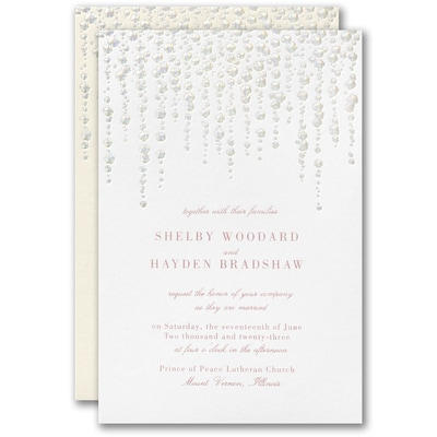 Glistening String Lights Invitation
