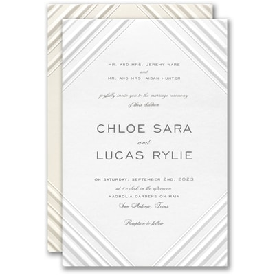 Embossed Diamond Invitation
