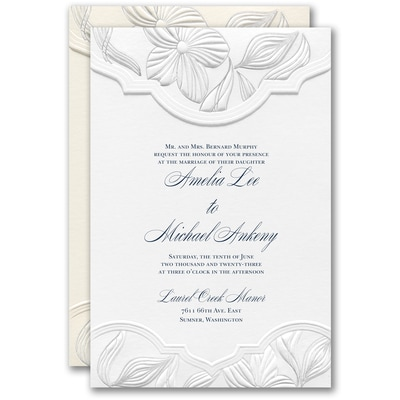 Contemporary Floral Invitation