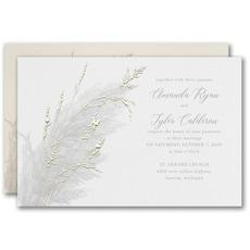 greenery wedding invitation: Prairie Long Grass Invitation