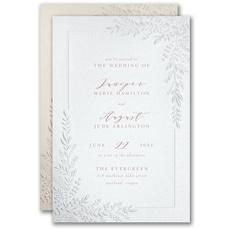 greenery wedding invitation: Corner Leafery Invitation