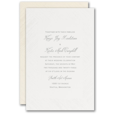 Simply Wooden Invitation