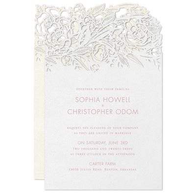 Rosy Elegance Invitation