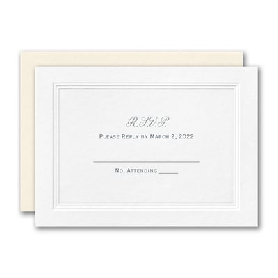 Eloquent Border Response Card and Envelope