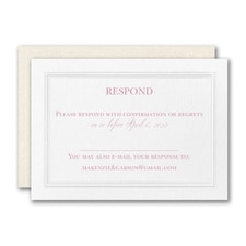 Regal Affair Response Card and Envelope
