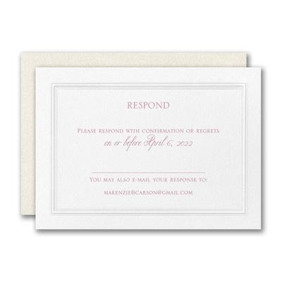 Regal Affair Response Card and Envelope
