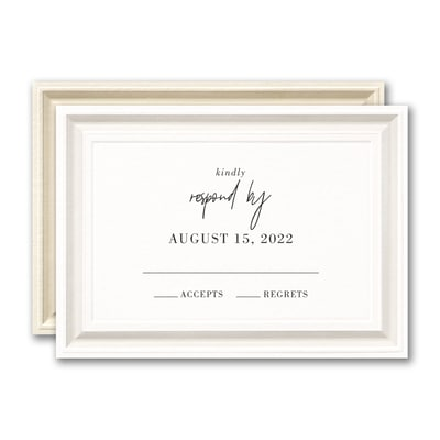 Timeless Border Response Card and Envelope