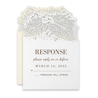 Intricate Greenery Response Card and Envelope