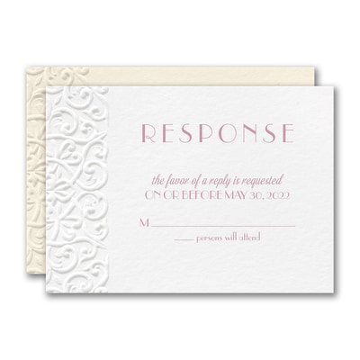 Classic Flourish Response Card and Envelope