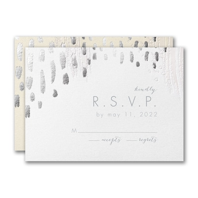 Brushstroke Beauty Response Card and Envelope