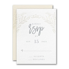 Blooming Elegance Response Card and Envelope