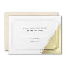 Golden Elegance Response Card and Envelope