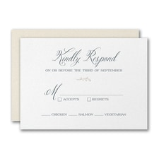 Framed Monogram Response Card and Envelope