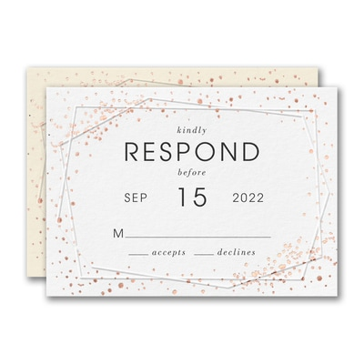 Speckled Geo Response Card and Envelope