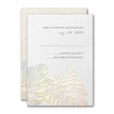 Tropical Iridescence Response Card and Envelope
